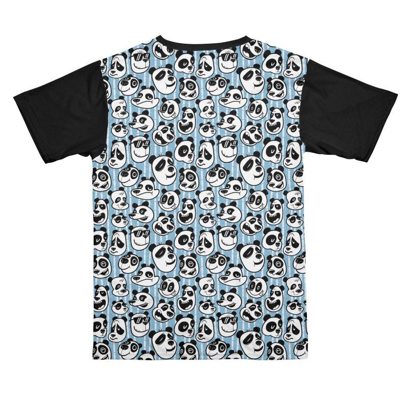 Panda Pattern Blue Women's Cut & Sew by jublin's Artist Shop
