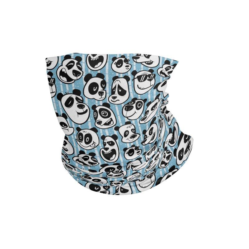 Panda Pattern Blue Accessories Neck Gaiter by jublin's Artist Shop