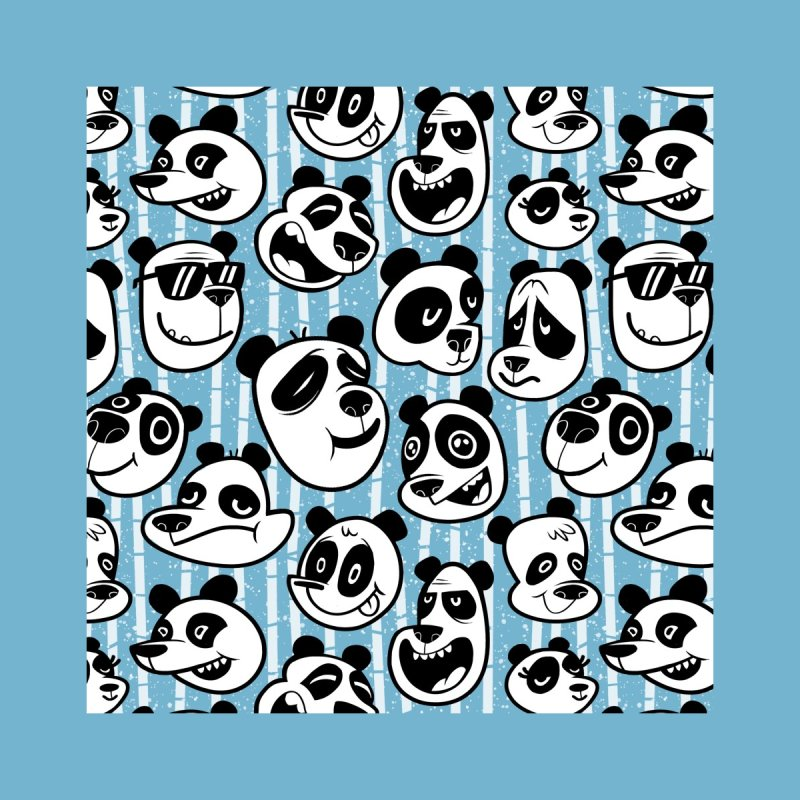 Panda Pattern Blue Men's T-Shirt by jublin's Artist Shop