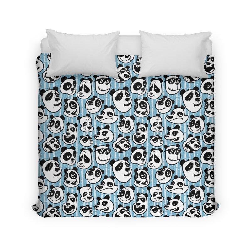 Panda Pattern Blue Home Duvet by jublin's Artist Shop