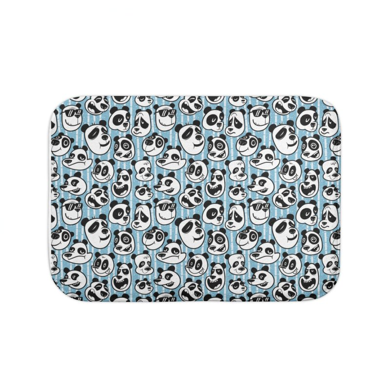 Panda Pattern Blue Home Bath Mat by jublin's Artist Shop