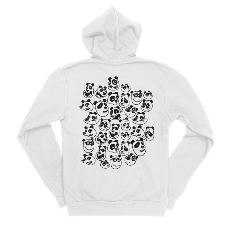 Panda Pattern Blue Women's Zip-Up Hoody by jublin's Artist Shop