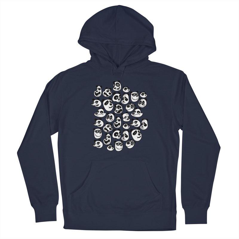 Panda Pattern Blue Men's Pullover Hoody by jublin's Artist Shop