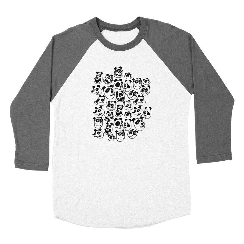 Panda Pattern Blue Women's Longsleeve T-Shirt by jublin's Artist Shop