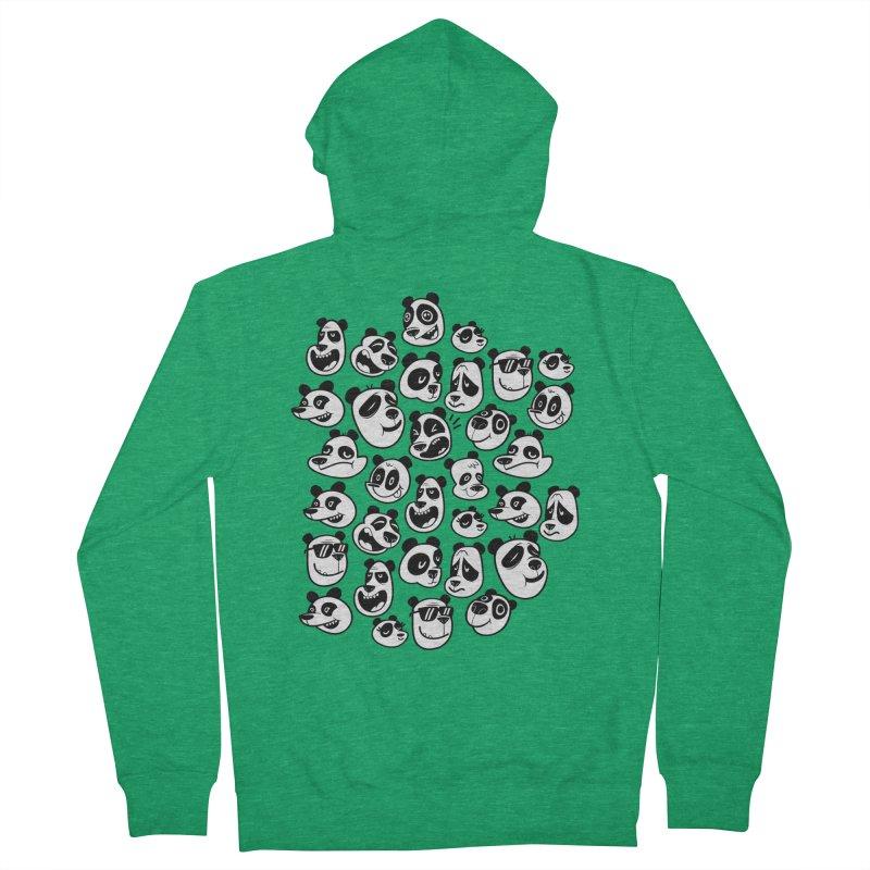 Panda Pattern Blue Men's Zip-Up Hoody by jublin's Artist Shop
