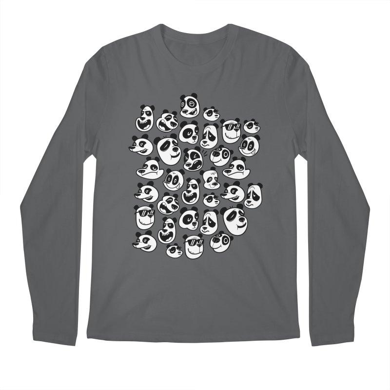 Panda Pattern Blue Men's Longsleeve T-Shirt by jublin's Artist Shop