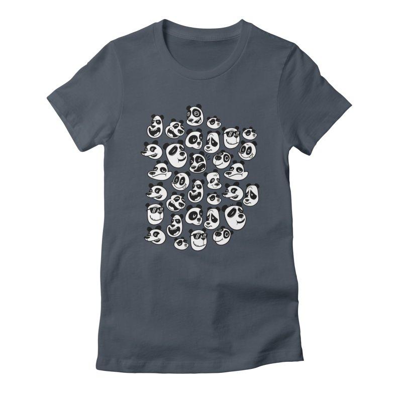 Panda Pattern Blue Women's T-Shirt by jublin's Artist Shop