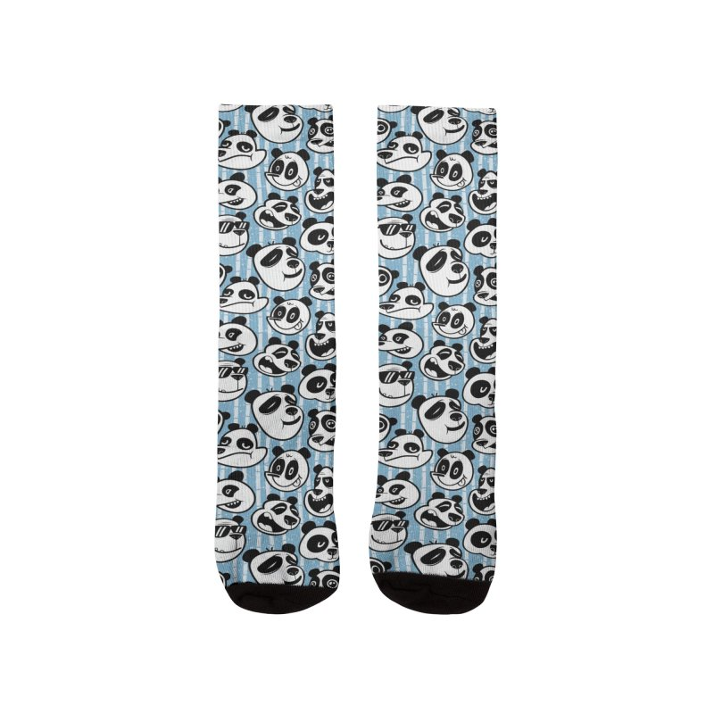 Panda Pattern Blue Women's Socks by jublin's Artist Shop