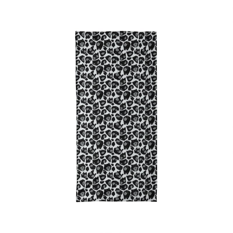 Snow Leopard Print (Made of Cats) Accessories Neck Gaiter by jublin's Artist Shop