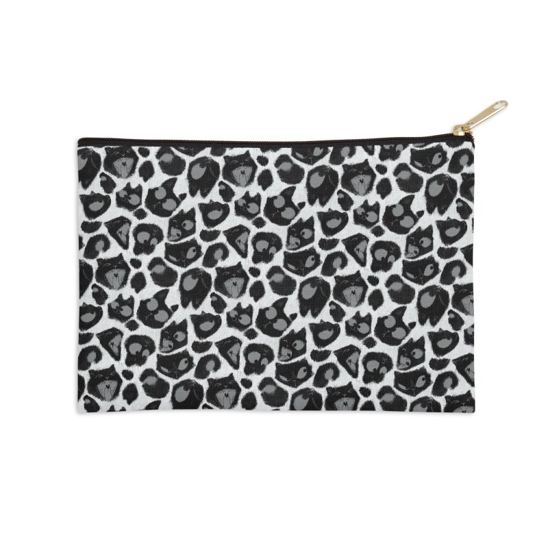 Snow Leopard Print (Made of Cats) Accessories Zip Pouch by jublin's Artist Shop