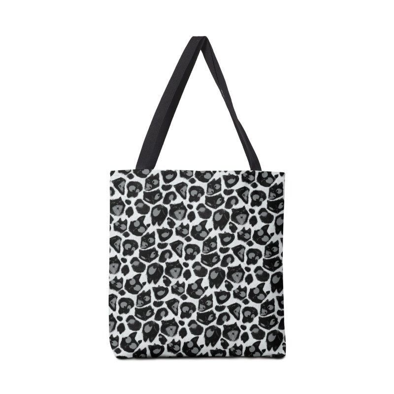 Snow Leopard Print (Made of Cats) Accessories Bag by jublin's Artist Shop