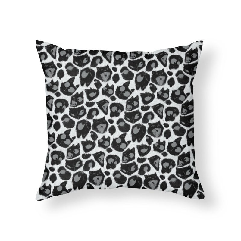 Snow Leopard Print (Made of Cats) Home Throw Pillow by jublin's Artist Shop