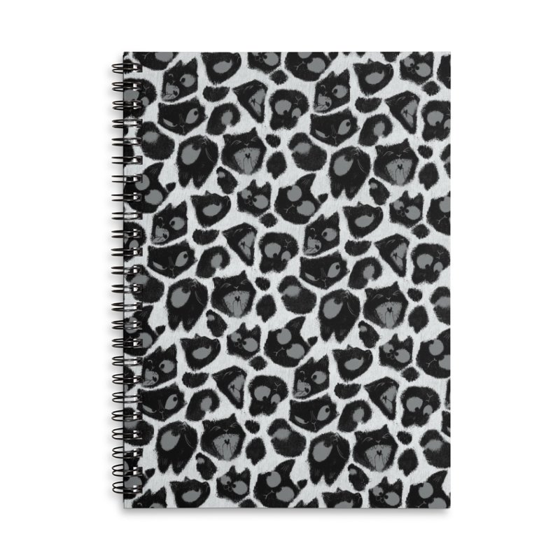 Snow Leopard Print (Made of Cats) Accessories Notebook by jublin's Artist Shop