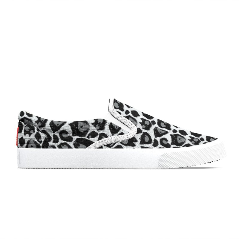 Snow Leopard Print (Made of Cats) Men's Shoes by jublin's Artist Shop