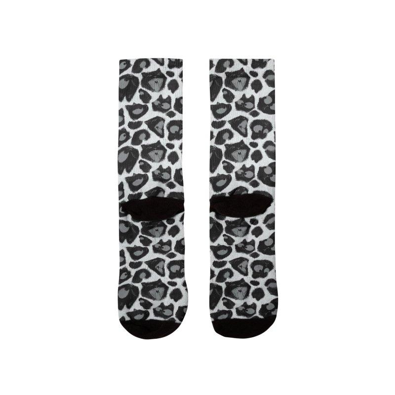 Snow Leopard Print (Made of Cats) Women's Socks by jublin's Artist Shop
