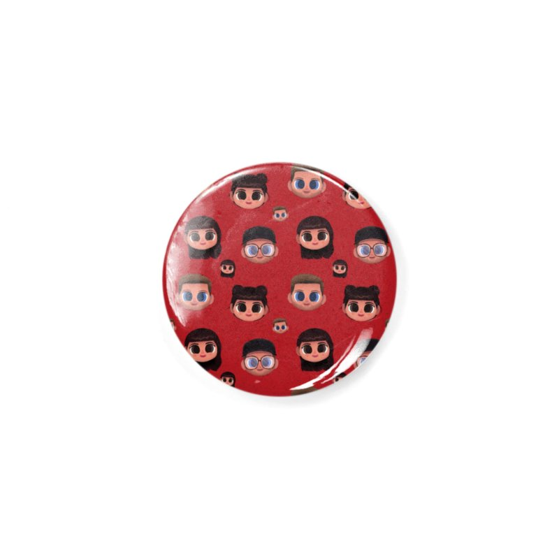Raquel BF on Red Accessories Button by jublin's Artist Shop