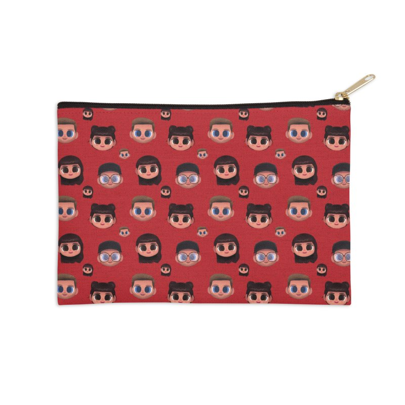 Raquel BF on Red Accessories Zip Pouch by jublin's Artist Shop