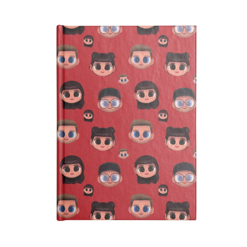 Raquel BF on Red Accessories Notebook by jublin's Artist Shop