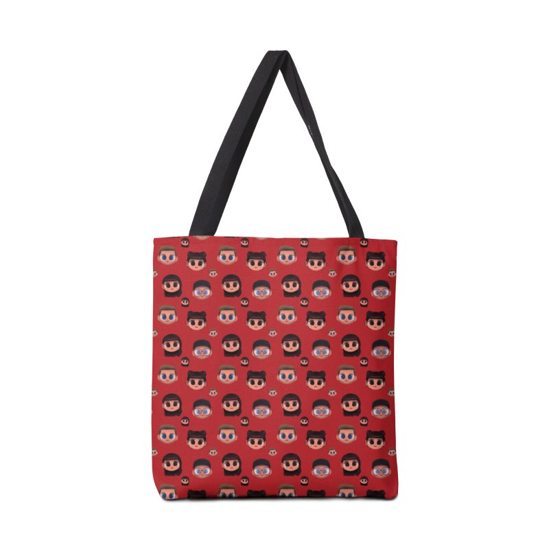 Raquel BF on Red Accessories Bag by jublin's Artist Shop