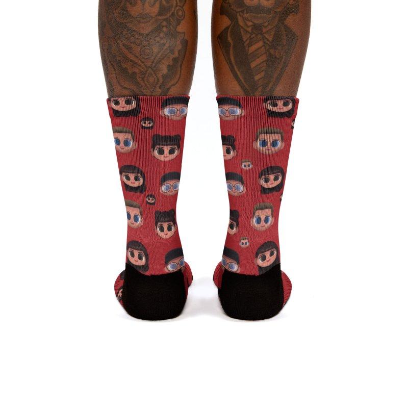 Raquel BF on Red Women's Socks by jublin's Artist Shop