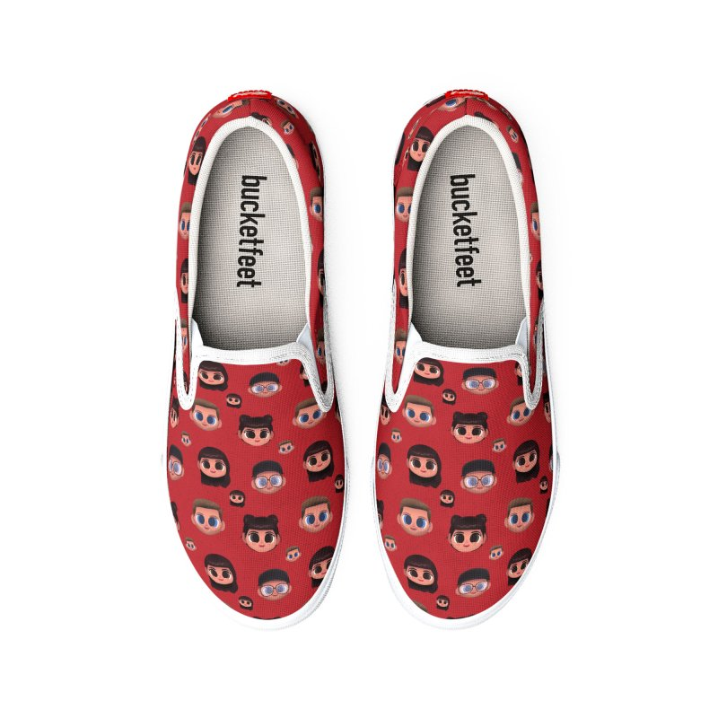 Raquel BF on Red Women's Shoes by jublin's Artist Shop