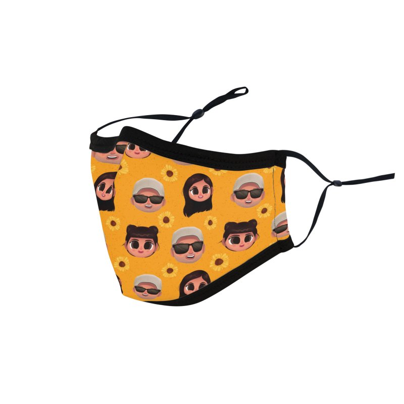 Raquel Sister & Dad Accessories Face Mask by jublin's Artist Shop