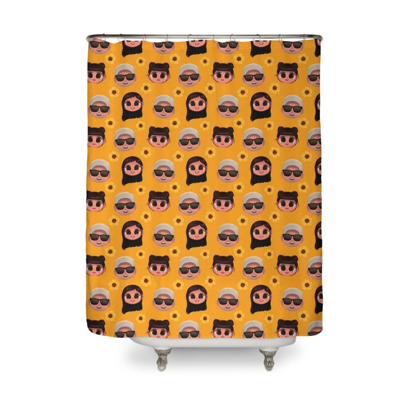 Raquel Sister & Dad Home Shower Curtain by jublin's Artist Shop
