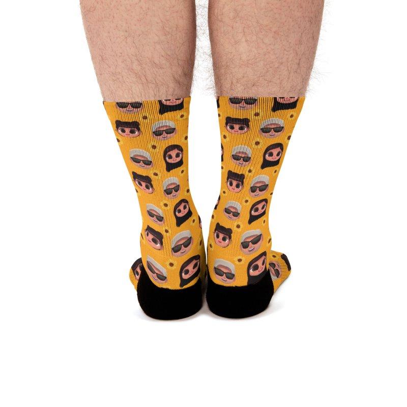 Raquel Sister & Dad Men's Socks by jublin's Artist Shop