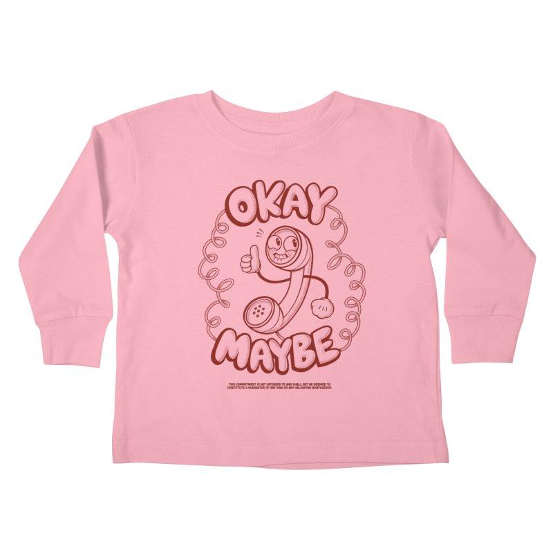 Making Plans Kids Toddler Longsleeve T-Shirt by jublin's Artist Shop