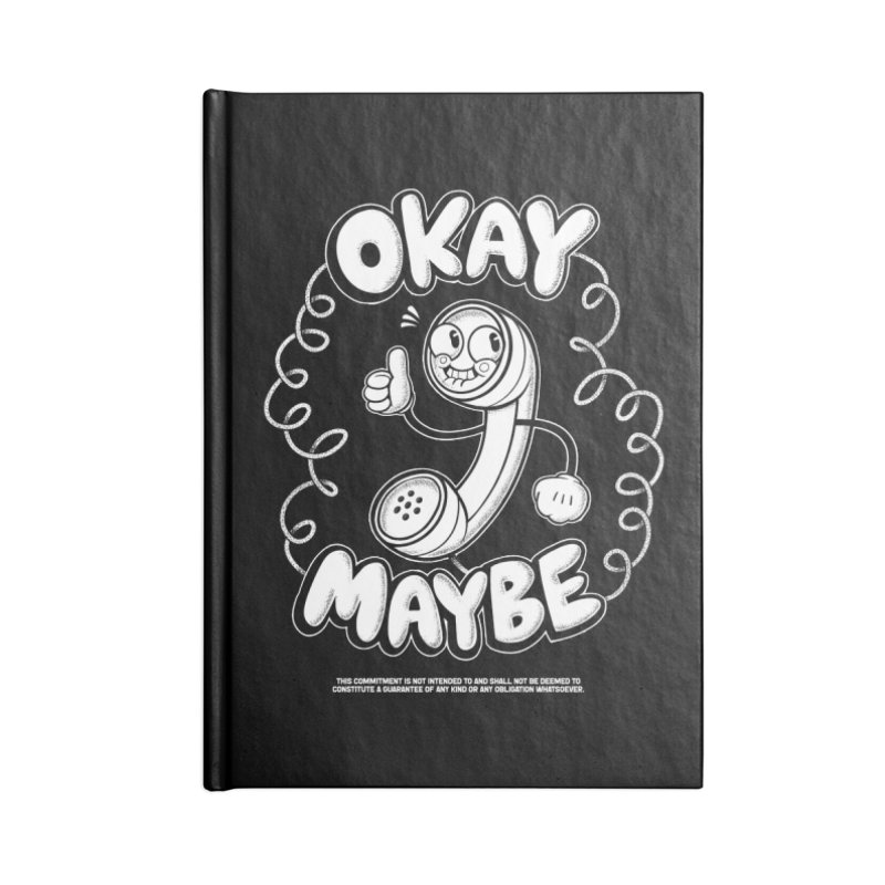 Making Plans (White Ink) Accessories Notebook by jublin's Artist Shop