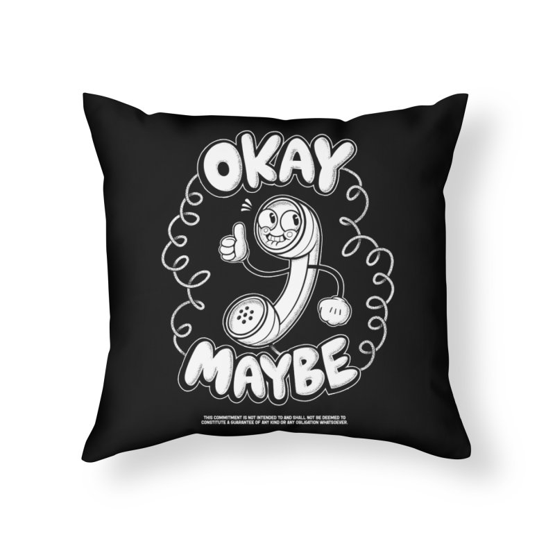 Making Plans (White Ink) Home Throw Pillow by jublin's Artist Shop