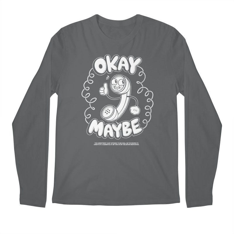 Making Plans (White Ink) Men's Longsleeve T-Shirt by jublin's Artist Shop