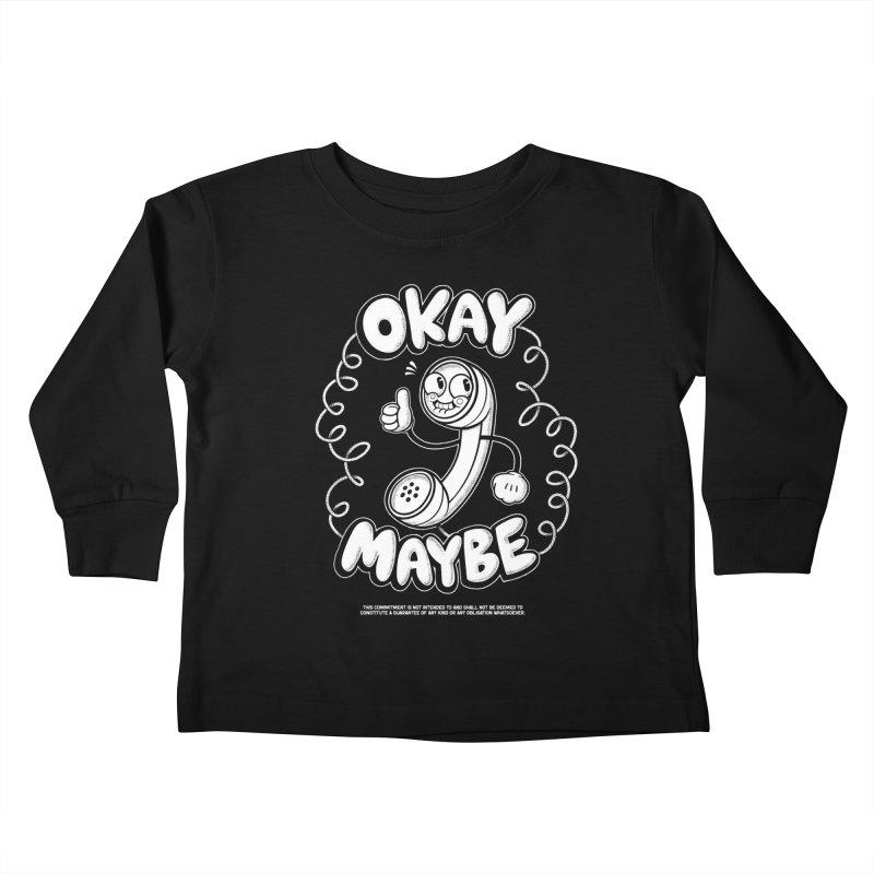 Making Plans (White Ink) Kids Toddler Longsleeve T-Shirt by jublin's Artist Shop
