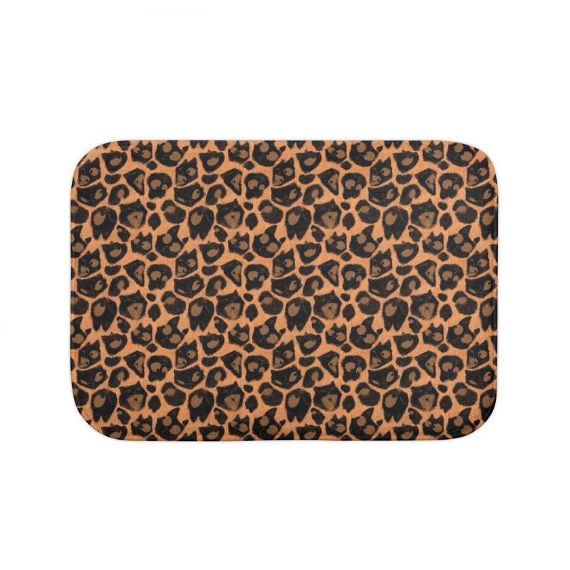 Leopard Print (Made of Cats) Home Bath Mat by jublin's Artist Shop