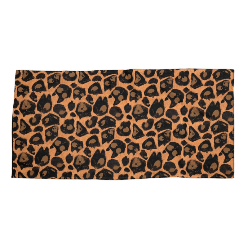 Leopard Print (Made of Cats) Accessories Beach Towel by jublin's Artist Shop