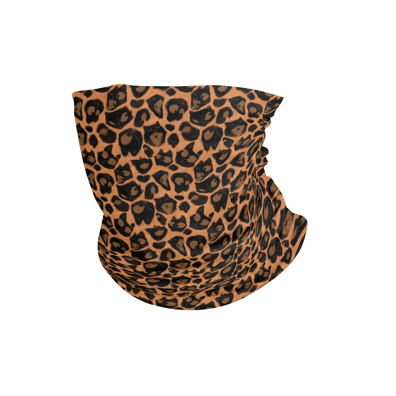 Leopard Print (Made of Cats) Accessories Neck Gaiter by jublin's Artist Shop