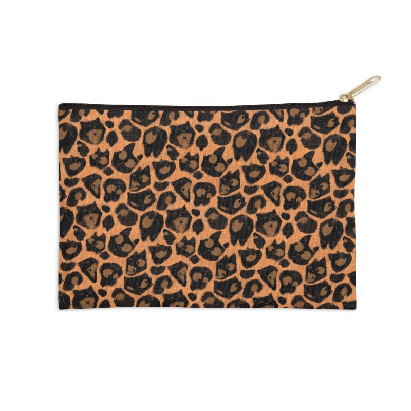 Leopard Print (Made of Cats) Accessories Zip Pouch by jublin's Artist Shop