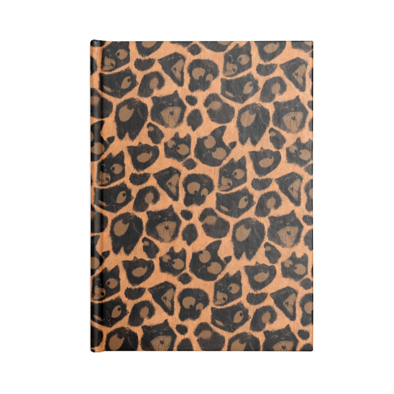 Leopard Print (Made of Cats) Accessories Notebook by jublin's Artist Shop