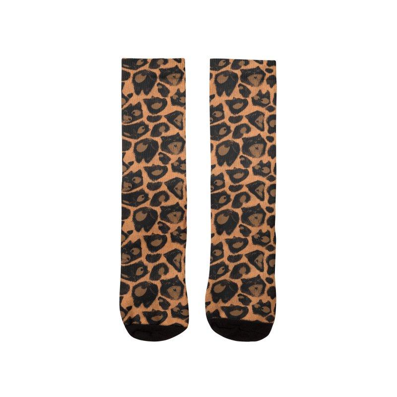 Leopard Print (Made of Cats) Women's Socks by jublin's Artist Shop
