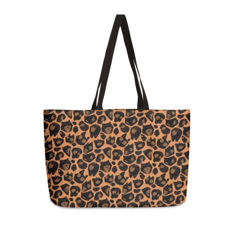Leopard Print (Made of Cats) Accessories Bag by jublin's Artist Shop