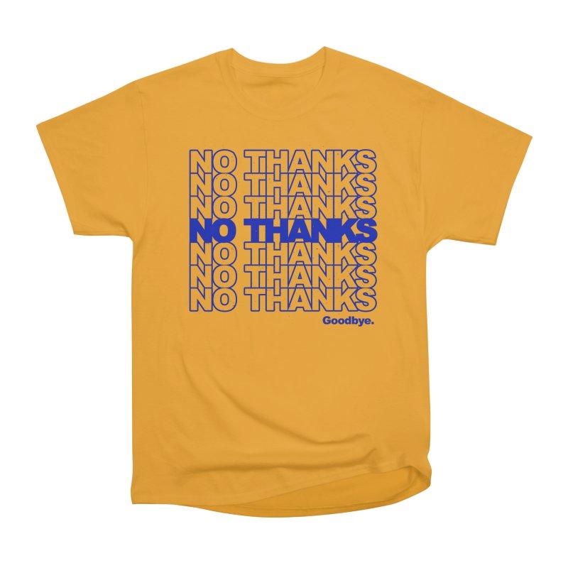 No Thanks (blue) Men's T-Shirt by jublin's Artist Shop