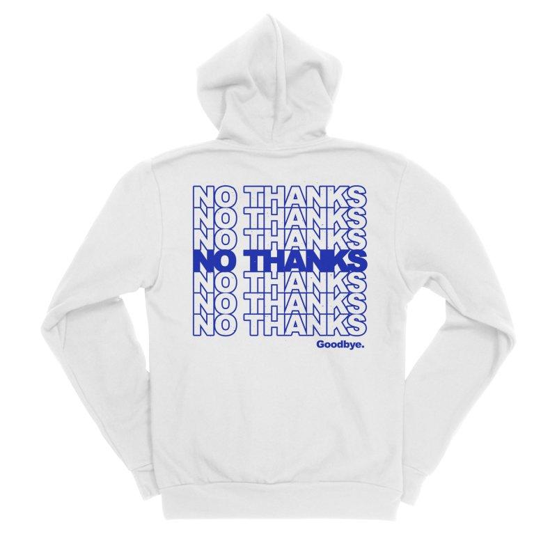 No Thanks (blue) Women's Zip-Up Hoody by jublin's Artist Shop
