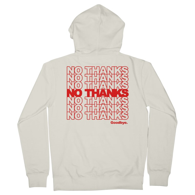 No Thanks (red) Men's Zip-Up Hoody by jublin's Artist Shop