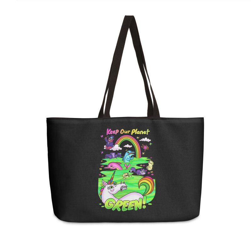 Keep Our Planet Green Accessories Bag by jublin's Artist Shop