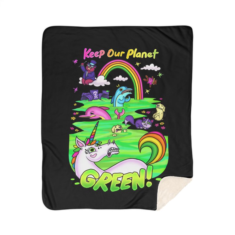 Keep Our Planet Green Home Blanket by jublin's Artist Shop