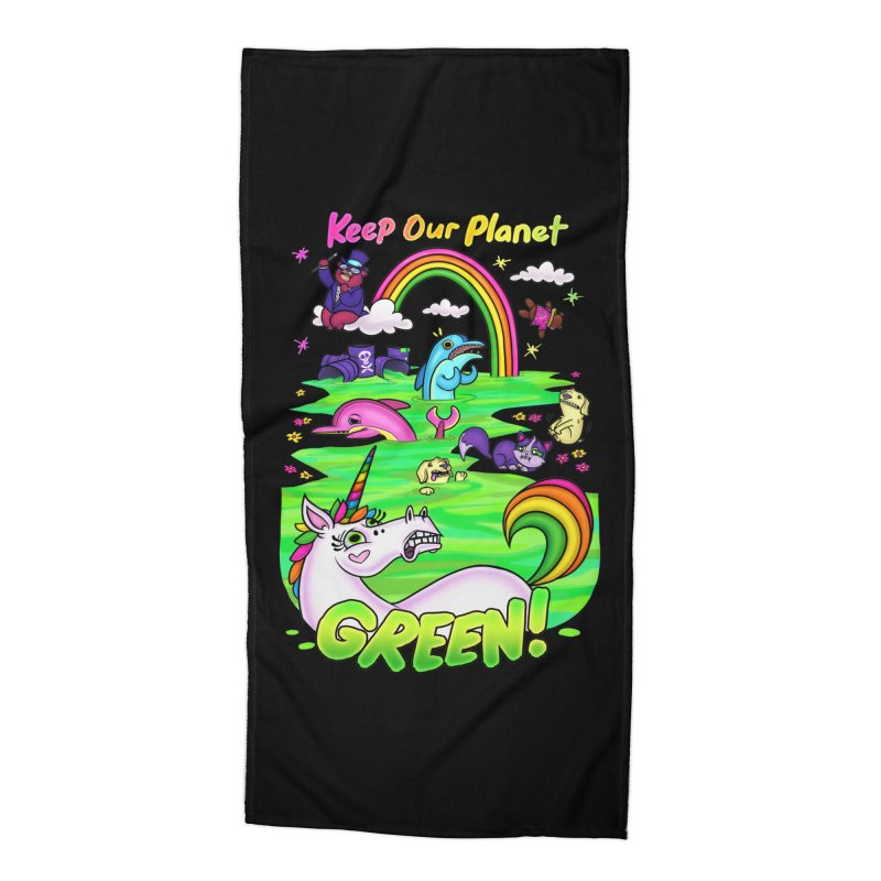 Keep Our Planet Green Accessories Beach Towel by jublin's Artist Shop