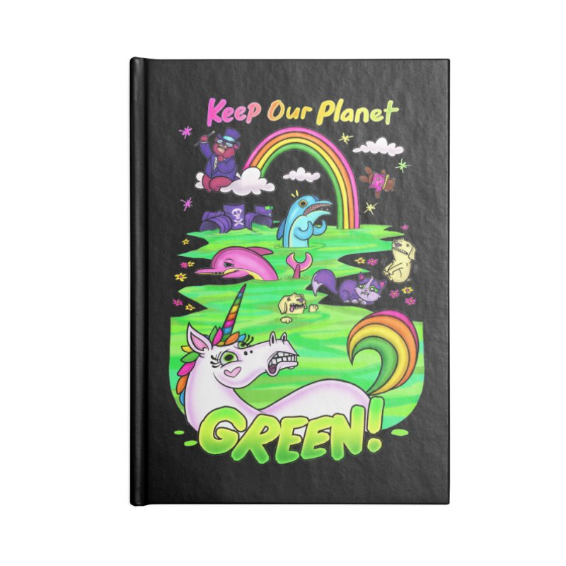 Keep Our Planet Green Accessories Notebook by jublin's Artist Shop