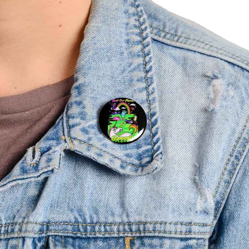 Keep Our Planet Green Accessories Button by jublin's Artist Shop