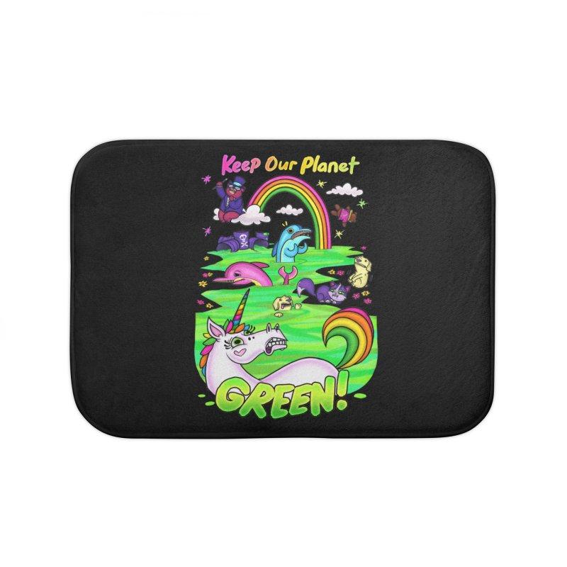 Keep Our Planet Green Home Bath Mat by jublin's Artist Shop
