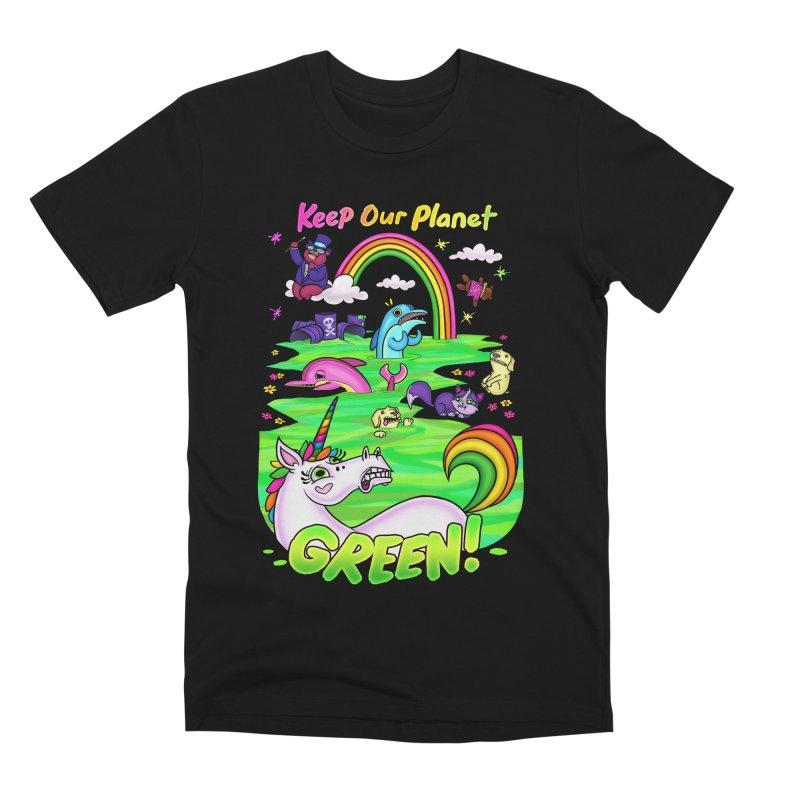 Keep Our Planet Green Men's T-Shirt by jublin's Artist Shop